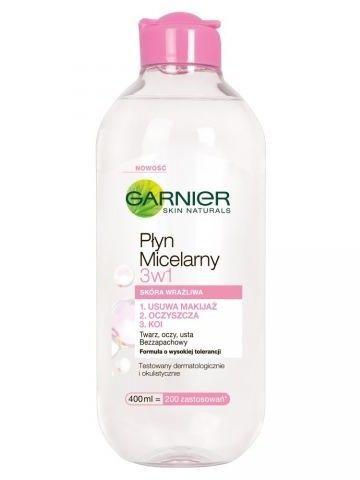 Garnier Skin Naturals Płyn micelarny 3 w 1 do skóry wrażliwej  400 ml