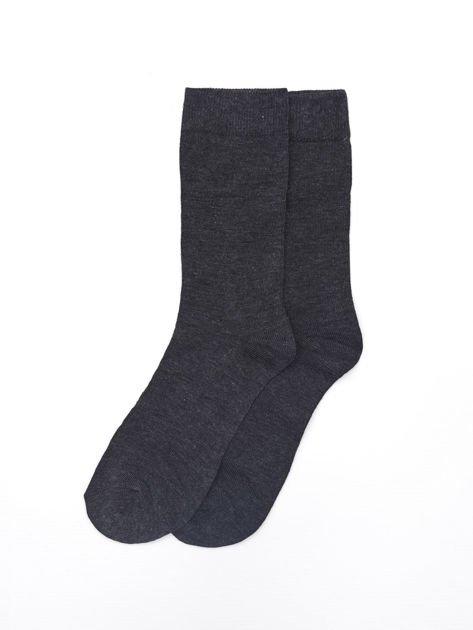 Gładkie bawełniane skarpety męskie 3-pak wielokolorowe                              zdj.                              3
