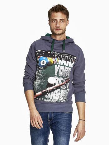 Grafitowa bluza męska z napisem MAKE YOUR BEST SHOUT                              zdj.                              1