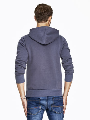 Grafitowa bluza męska z napisem MAKE YOUR BEST SHOUT                              zdj.                              2