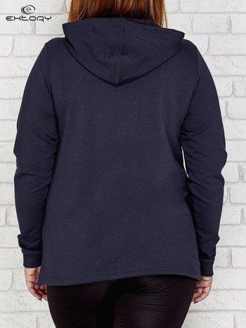 Grafitowa bluza oversize z kapturem
