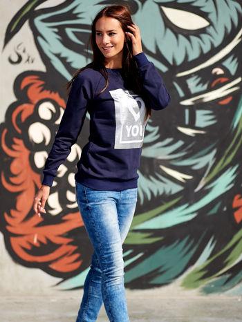 Grafitowa bluza z błyszczącym nadrukiem                                  zdj.                                  6