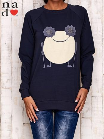 Grafitowa bluza z komiksowym nadrukiem                                  zdj.                                  1