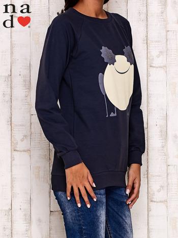 Grafitowa bluza z komiksowym nadrukiem                                  zdj.                                  3