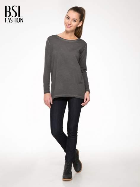 Grafitowa bluza z koronkową wstawką na plecach                                  zdj.                                  2