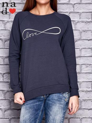Grafitowa bluza z napisem LOVE                                  zdj.                                  1