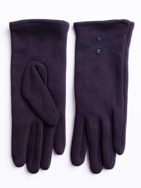 Grafitowe rękawiczki damskie