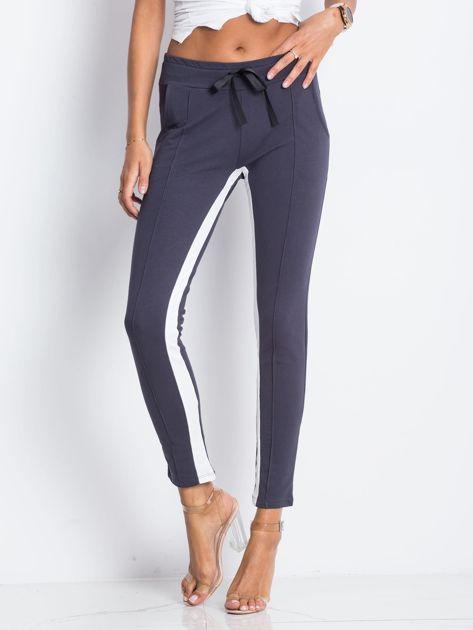 Grafitowe spodnie dresowe Defined                              zdj.                              1