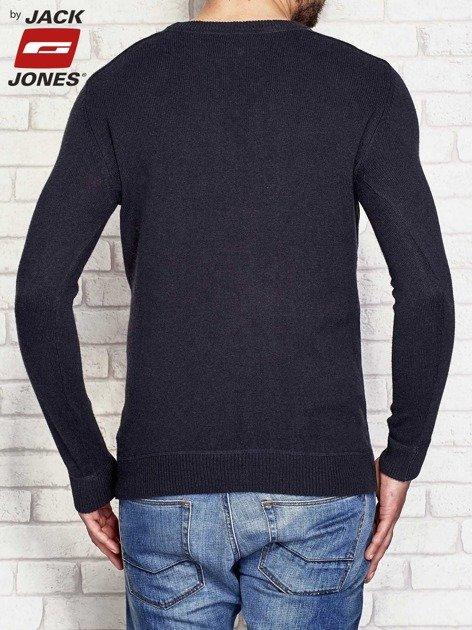 Grafitowy sweter męski basic