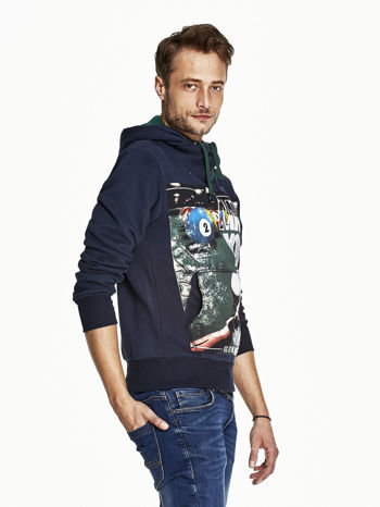 Granatowa bluza męska z napisem MAKE YOUR BEST SHOUT                                  zdj.                                  3