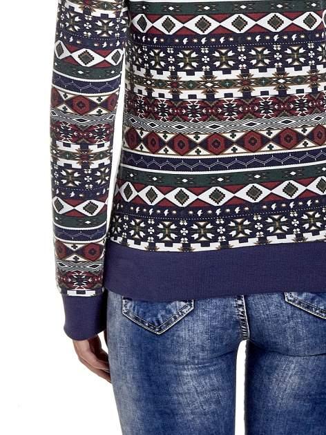 Granatowa bluza w azteckie wzory                                  zdj.                                  6