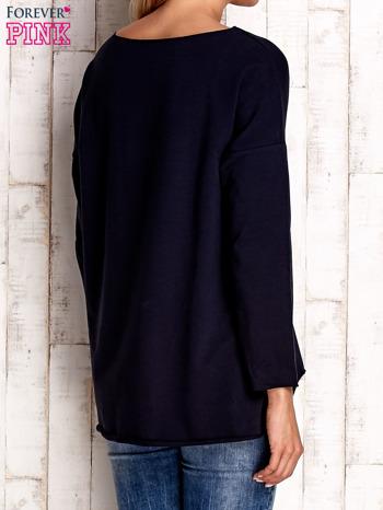 Granatowa bluza z błyszczącymi gwiazdkami                                  zdj.                                  4