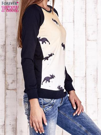 Granatowa bluza z nadrukiem buldożków                                  zdj.                                  3