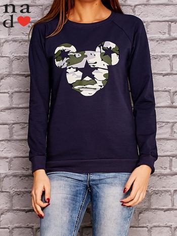 Granatowa bluza z nadrukiem moro                                  zdj.                                  1