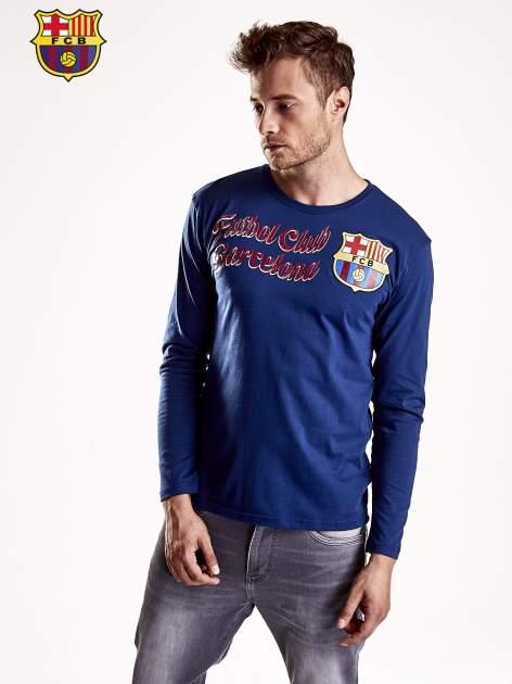 Granatowa bluzka męska FC BARCELONA                                  zdj.                                  2
