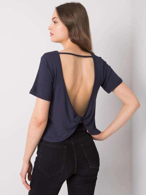 Granatowa bluzka na co dzień Giselle RUE PARIS