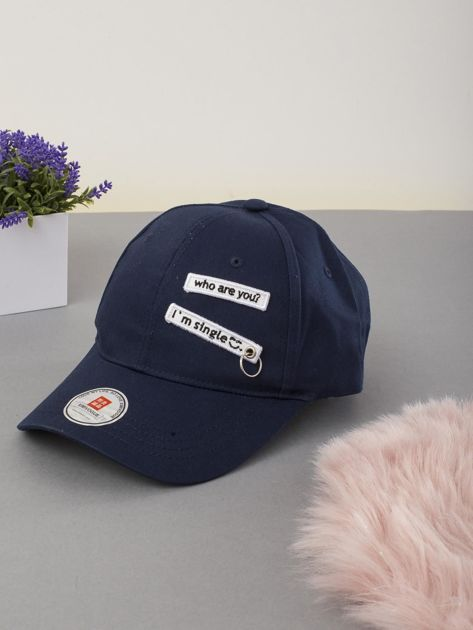 Granatowa czapka z daszkiem                              zdj.                              1