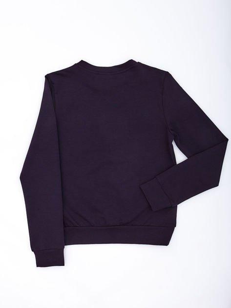 Granatowa bluza młodzieżowa                              zdj.                              1