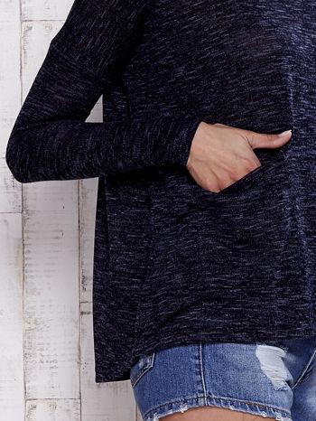 Granatowa melanżowa bluzka z kieszeniami z przodu                                  zdj.                                  5