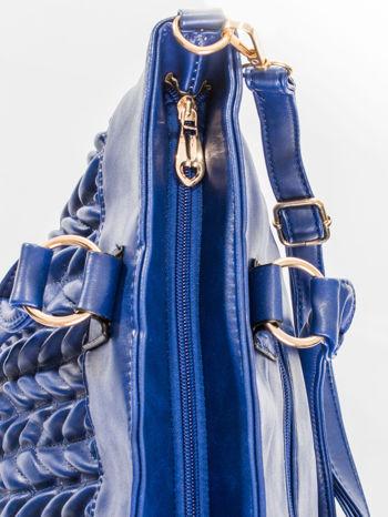 Granatowa pikowana torba na ramię                                  zdj.                                  9