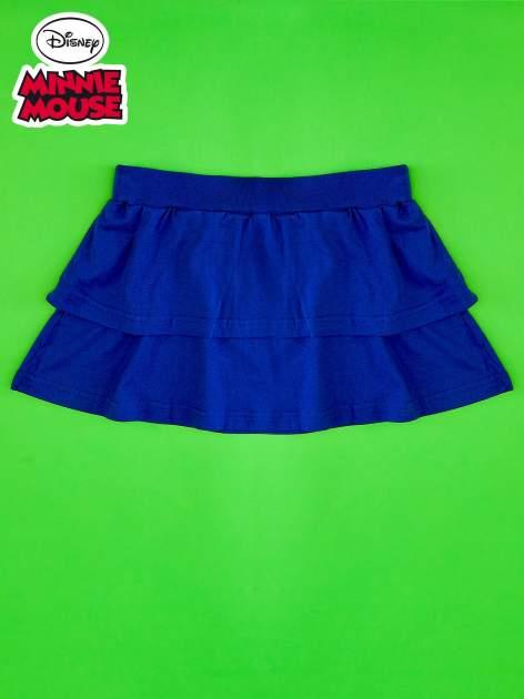 Granatowa spódnica dla dziewczynki z falbanami MINNIE MOUSE                                  zdj.                                  2