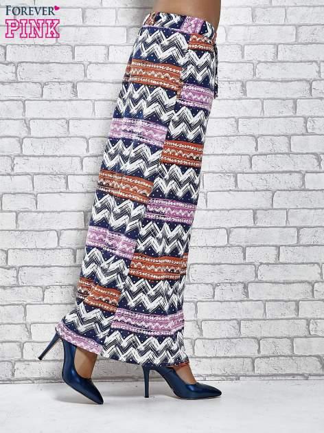 Granatowa spódnica maxi w azteckie wzory                                  zdj.                                  3