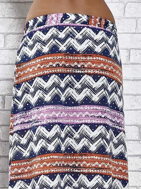 Granatowa spódnica maxi w azteckie wzory                                  zdj.                                  7