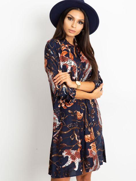 Granatowa sukienka Beverly                              zdj.                              3