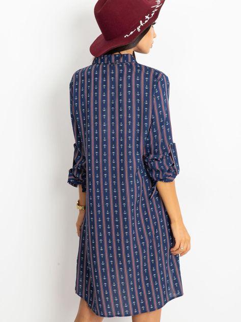 Granatowa sukienka Captain                              zdj.                              2
