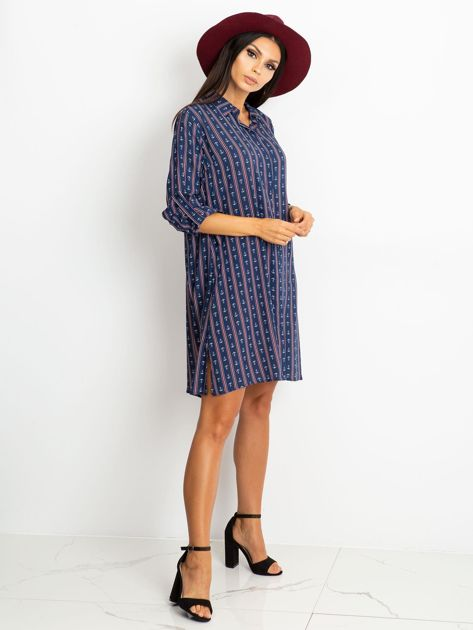 Granatowa sukienka Captain                              zdj.                              4