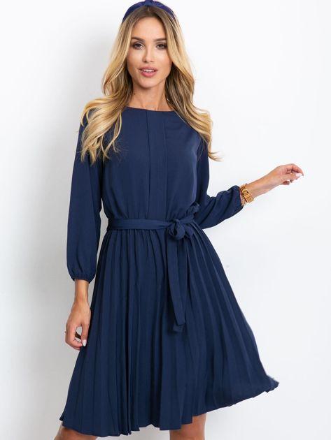 Granatowa sukienka Dakota                              zdj.                              1