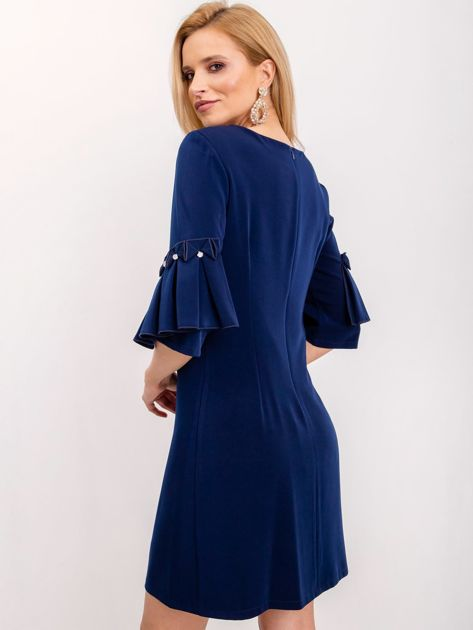 Granatowa sukienka Entice