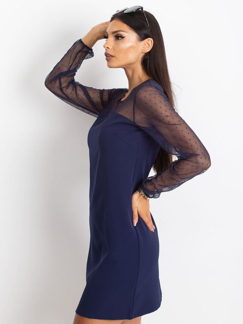 Granatowa sukienka Vanity                              zdj.                              3