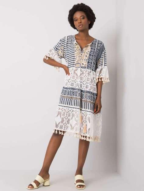 Granatowa sukienka boho Nayeli