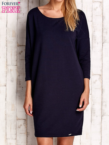 Granatowa sukienka oversize                              zdj.                              1