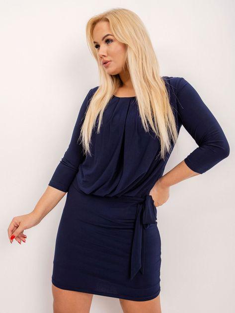Granatowa sukienka plus size Ashe