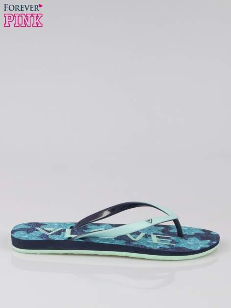 Granatowe japonki Whats Up plażowe kąpielowe                                  zdj.                                  1