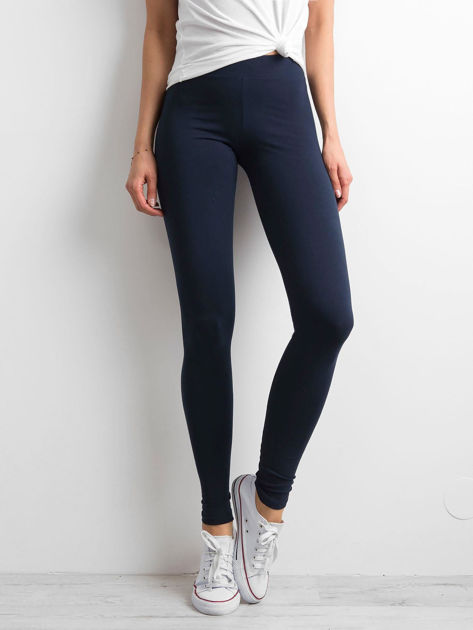 Granatowe legginsy Basic                              zdj.                              1