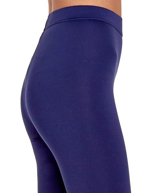 Granatowe legginsy basic z lekkim ociepleniem                                  zdj.                                  6