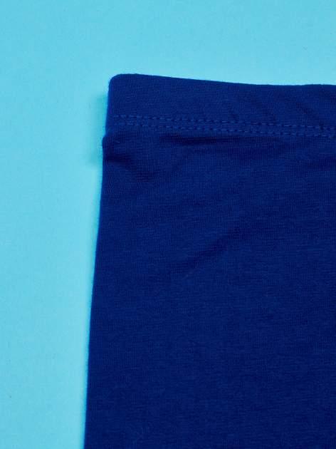 Granatowe legginsy dla dziewczynki KRÓLEWNA ŚNIEŻKA                                  zdj.                                  3