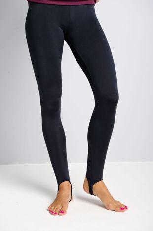 Granatowe legginsy zakładane na stopę                                  zdj.                                  1