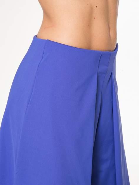 Granatowe spódnicospodnie z zakładkami                                  zdj.                                  9