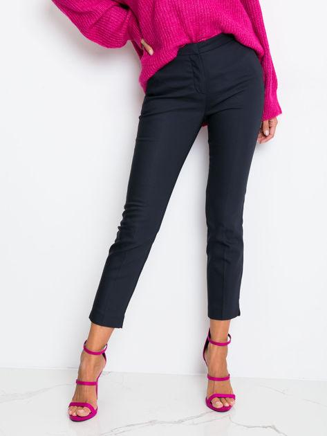 Granatowe spodnie Crystal                              zdj.                              5