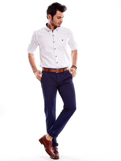 Granatowe spodnie męskie regular                              zdj.                              11
