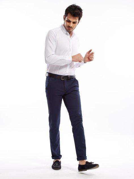 Granatowe spodnie męskie slim fit                              zdj.                              10