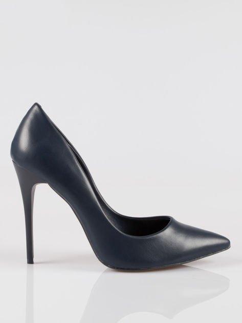 Granatowe szpilki high heels z noskiem w szpic Venus                                  zdj.                                  1