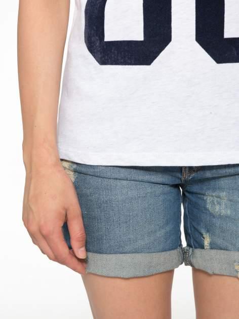 Granatowo-szary t-shirt z nadrukiem FASHION 88                                  zdj.                                  6