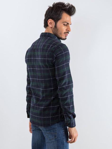 Granatowo-zielona koszula męska Lumberjack                              zdj.                              2