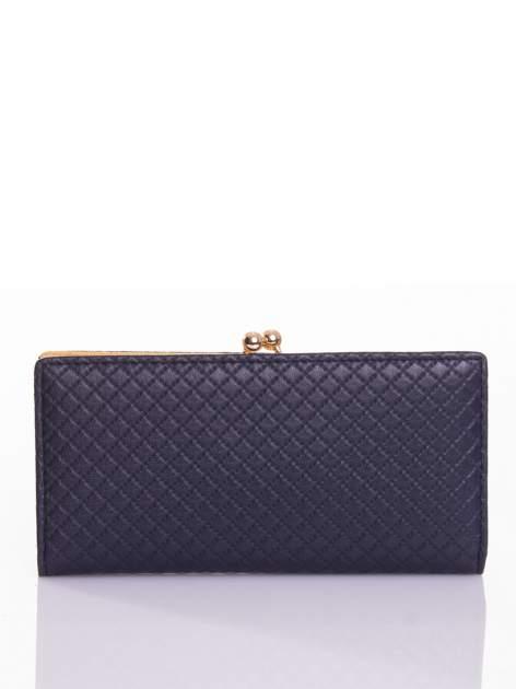 Granatowy elegancki portfel na bigiel                                  zdj.                                  1