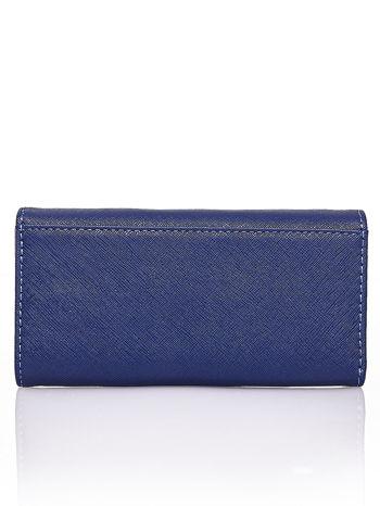 Granatowy portfel z białym wykończeniem                                  zdj.                                  2
